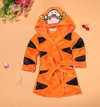 Childrens Wear 2019 Spring Baby Boy Girl Clothes  Flannel Cartoon Cute Kids Bathrobe Multi-color Home Dressing Gown FZ3036
