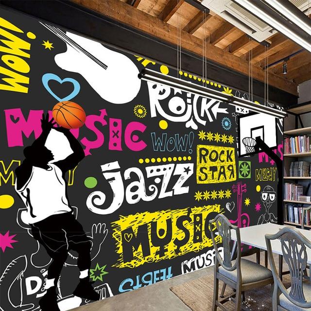 Custom 3D Poster Wallpaper Simple Modern Street Graffiti Abstract Paintings Restaurant KTV Bar Living Room Decor