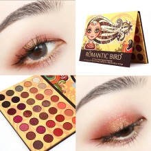 35 Warm Colors Makeup Eyeshadow Palette Waterproof Matte Glitter Shimmer Pallete Pigment