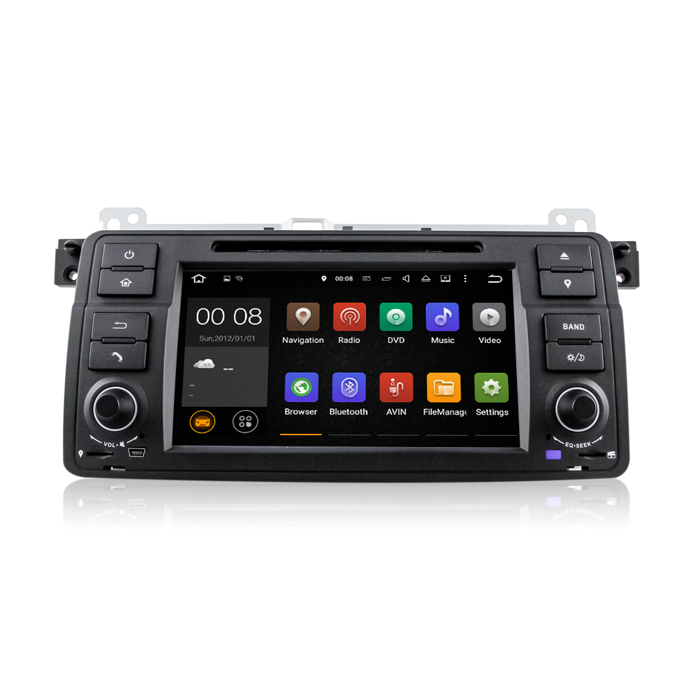 7 quad core android 5 1 1 car radio dvd gps navigation central multimedia for bmw 3 series e46. Black Bedroom Furniture Sets. Home Design Ideas