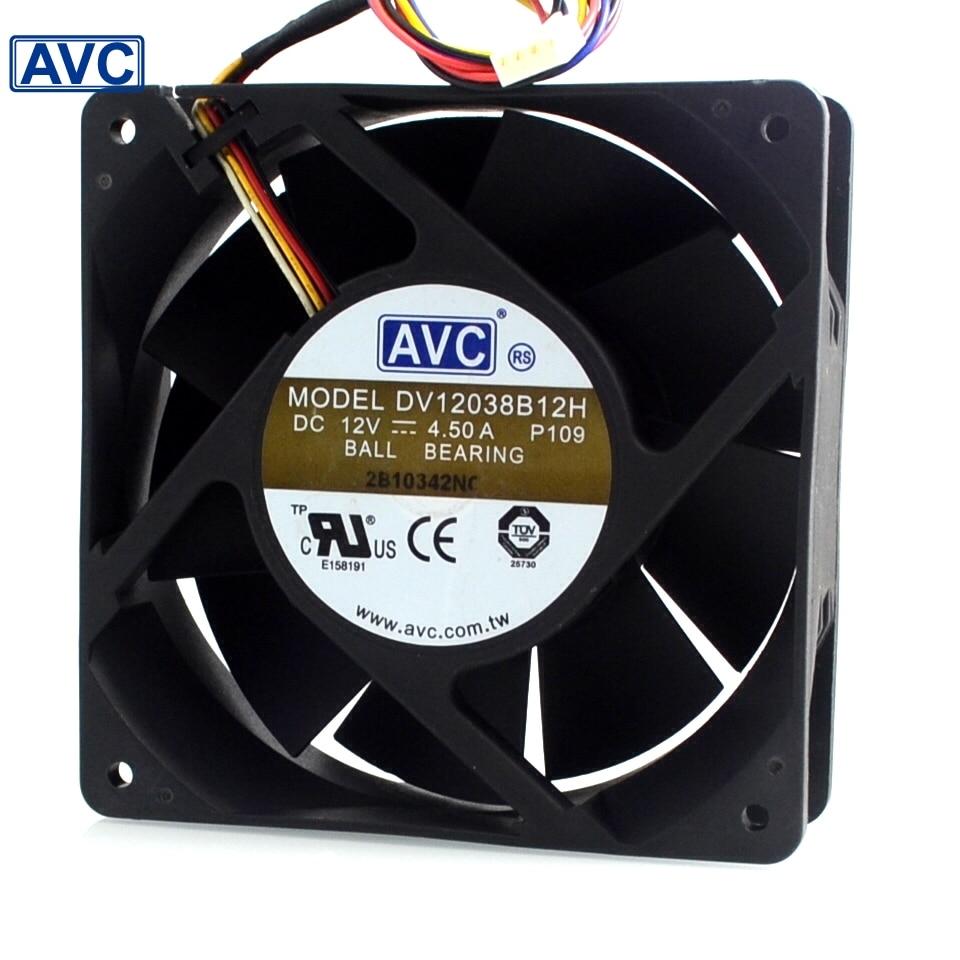 Original server fans DV138B12H 138 12V 4.5A 12CM cooling fan cooler
