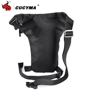 Image 2 - CUCYMA Motorcycle Bag Phone Case Purse Belt Male Waist Bags Motorcycle Leg Bag Outdoor Long distance Bag Leg CB 1603