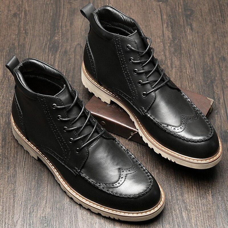 Todo Martin Retro Del Puntera Británico Hombres gris Para Vaquero Acero Cuero fósforo Negro Militares Genuino Otoño Zurriago Invierno Los Hombre Zapatos De Botas rnnvqx0F