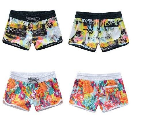ce90bd21e69387 Women colorful beach shorts female Boardshorts wetsuit shorts yoga diving swimming  shorts quick dry Bikini Bottoms