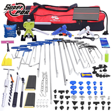 PDR Paintless Dent repair tool kit PDR hooks tools set Push Rod Car Crowbar LED lamp Board pulling bridge glue puller tools