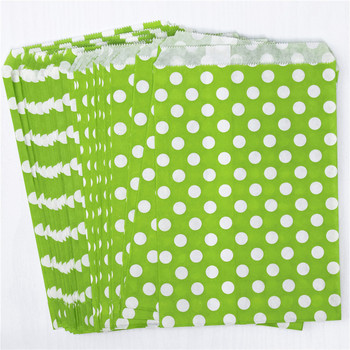 kraft Paper bags wholesale craft bag Party Favor Chevron Polka Dot Goodie baking DIY handmade Bags Paper flower Bakery Bag