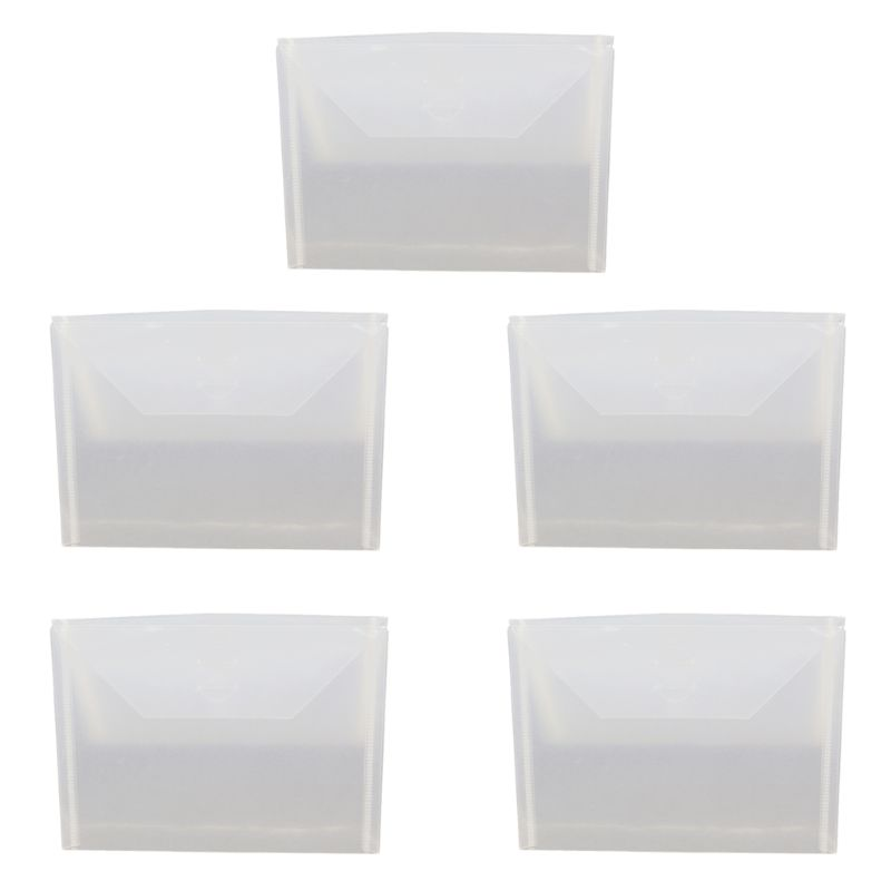 5Pcs/Set Resealable Clear Plastic Seal Bags Storage Case For Cutting Dies Stencil Album Stamp Crafts