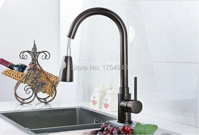 Zwarte keuken kraan graniet zwart keukenkraan pull down