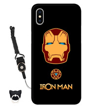 Iphone Case Marvel anime Shockproof Bumper Cell Phone Accessories Thin Soft Black TPU Protective стоимость