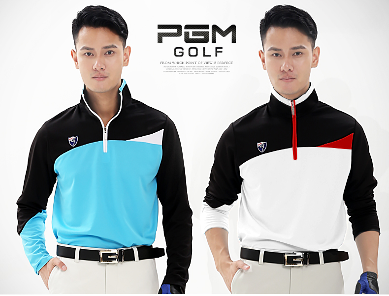High quality! PGM Golf Clothing Men's Golf Shirts Breathable Elastic Golf Sleeved Uniforms Mens Long Sleeved,Free shipping for adult high elastic polyester goalkeeper sets breathable soccer goalie clothing uniforms long sleeve goalkeeper jerseys