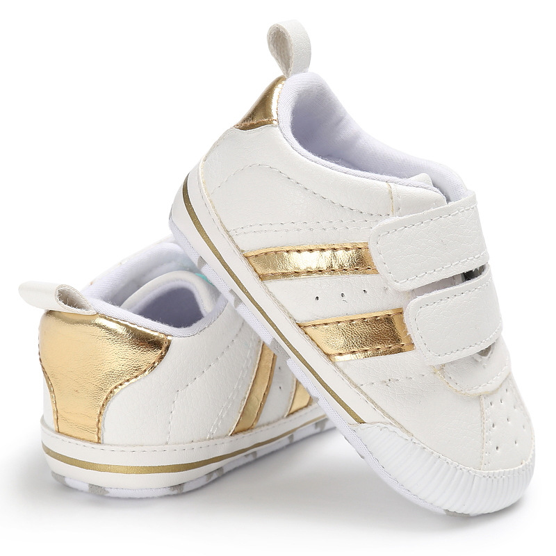 New arrived Striped 2018 Baby First walkers Crib shoes Newborn Boys Girls sneakers Toddler Prewalkers soft sole shoes 0-18 M