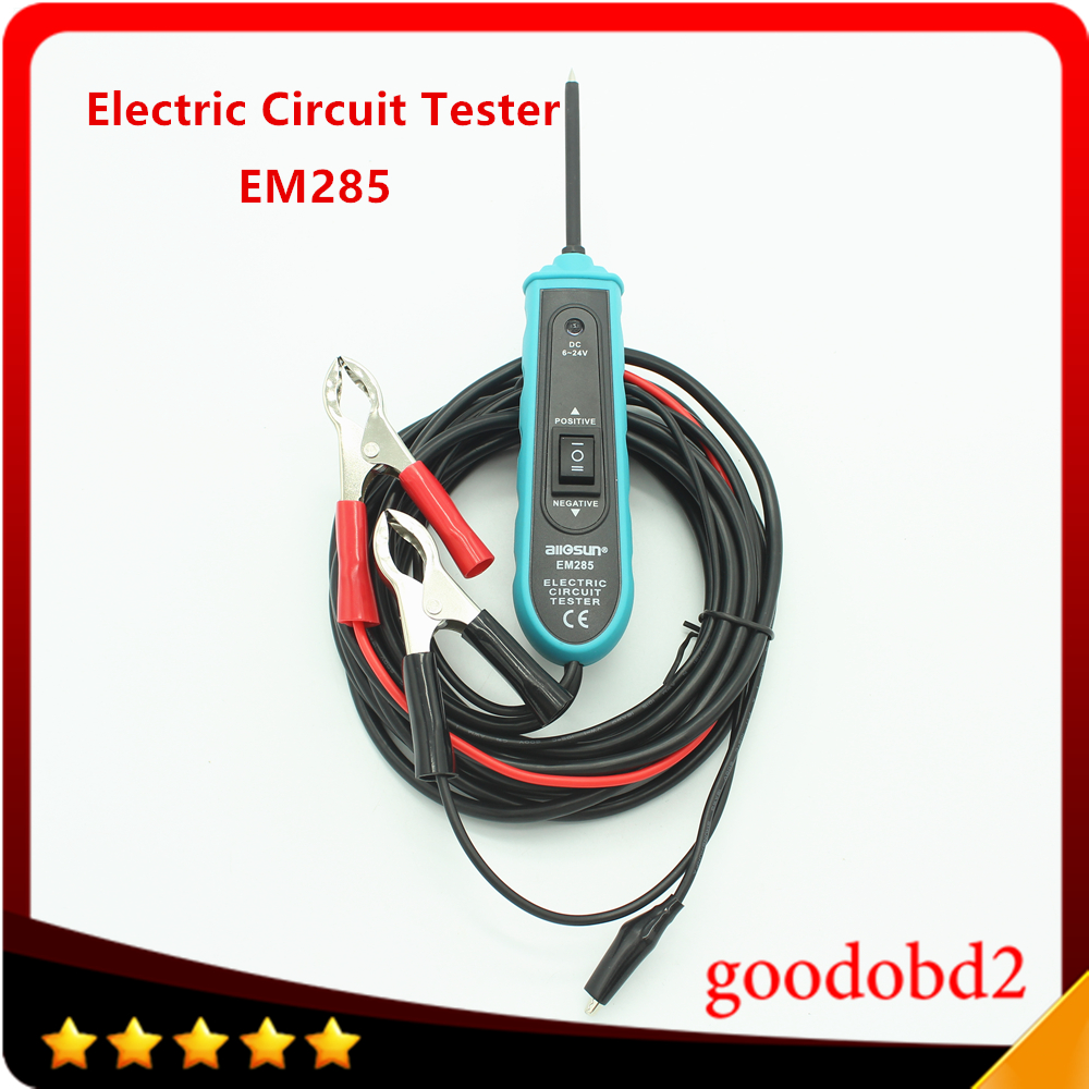 Car Diagnostic Repair Tool EM285 6-24V DC Probe Car Electric Circuit Tester Automotive Tester Electrical System Diagnostic Meter