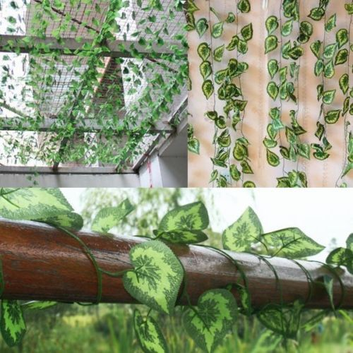 7 5ft guirlande artificielle plante lierre vigne for Plante artificielle jardin
