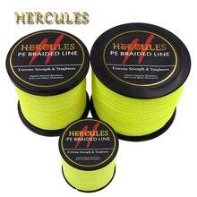 все цены на Hercules PE Braided Fishing Line Fluorescent Yellow Multifilament Fishing Cord Strong 4 Strands 100M 300M 500M 1000M 1500M 2000M онлайн