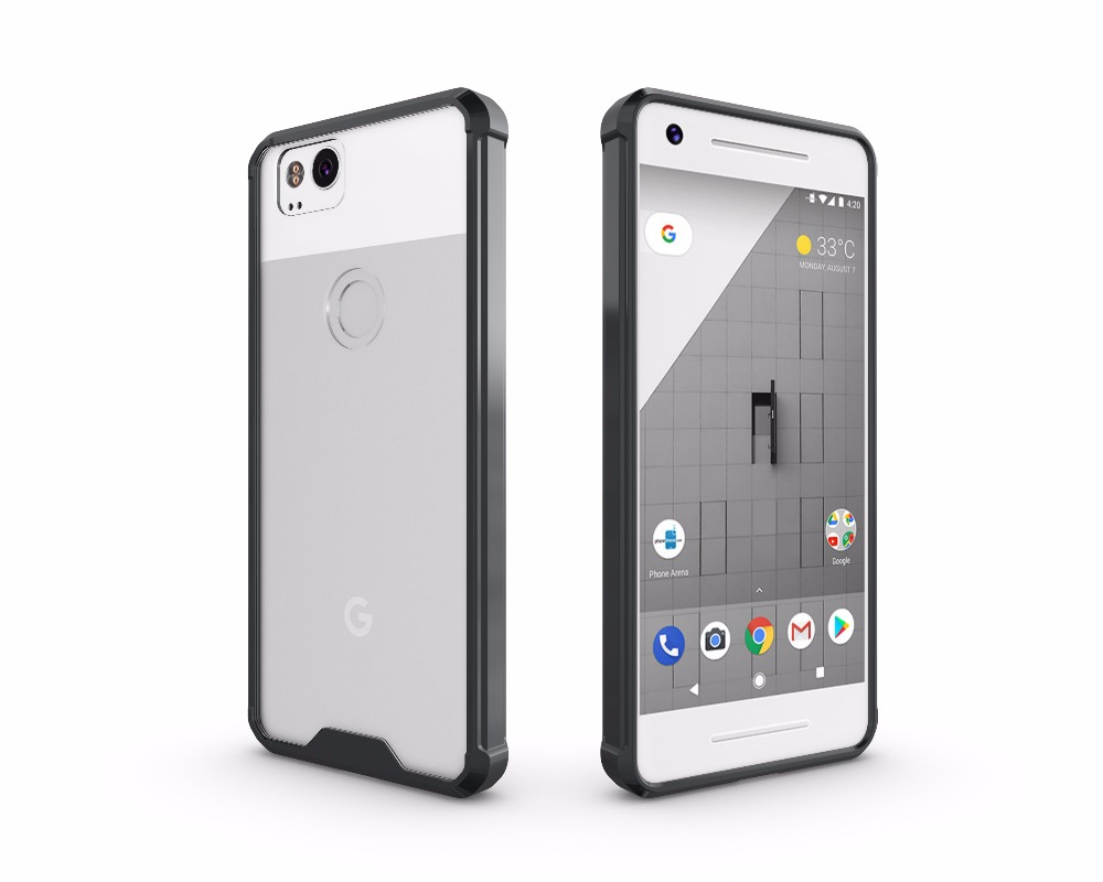 Crystal Clear Back Cover Cases For Google Pixel 2 XL Phone Shell 5