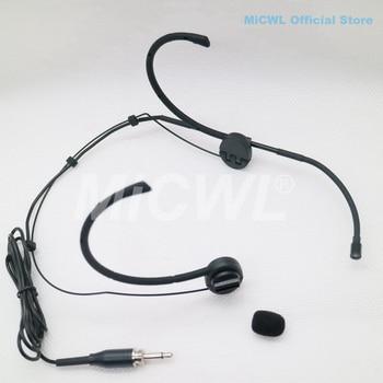 Auricolare Auricolare Microfono Senza Fili Per Il Mike BeltPack Trasmettitore PC Computer 3.5 millimetri Martinetti MiCWL E6i Nero Mic