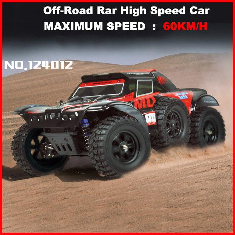 WLtoys 124012 RC Cars 1/12 4WD Remote Control Drift Off-road Rar High Speed Car 60KM/H Short Truck Radio Racing