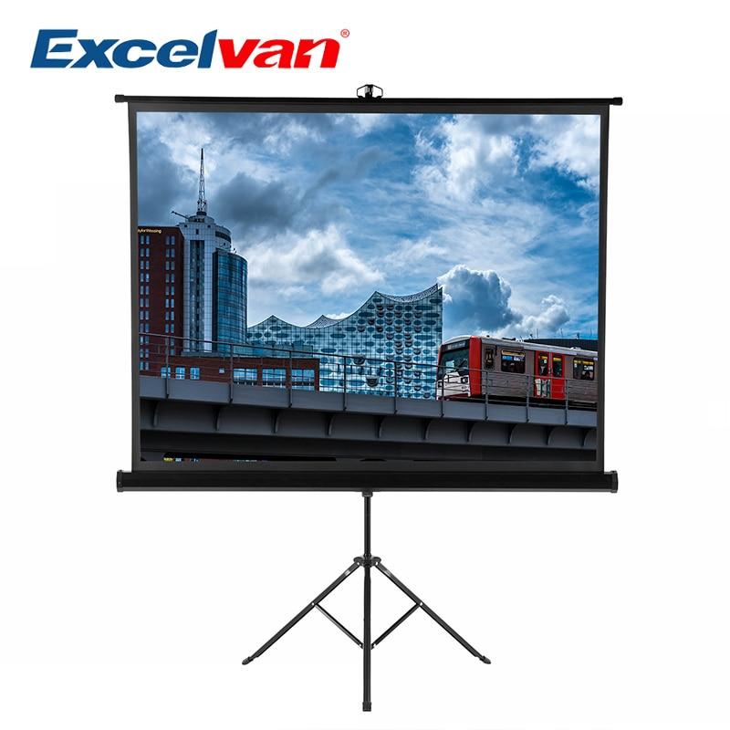 Excelvan 100 Pouces 4:3 1.1 Gain Portable Pull Up Braceket écran de projecteur Pour HD Films De Projection avec Stable Stand Trépied