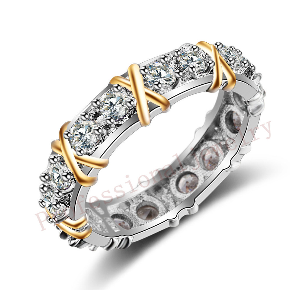 Victoria Wieck Brand Desgin Jewelry 925 Sterling Silver AAA CZ Stones Wedding Women Engagement Band Gold Ring gift Size 5-11