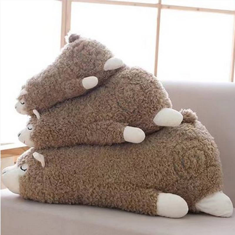 Fancytrader милые мягкие животные плюшевая игрушечная Альпака мягкая большая подушка овечка кукла белый и серый 60 см 24 дюйма хорошие подарки