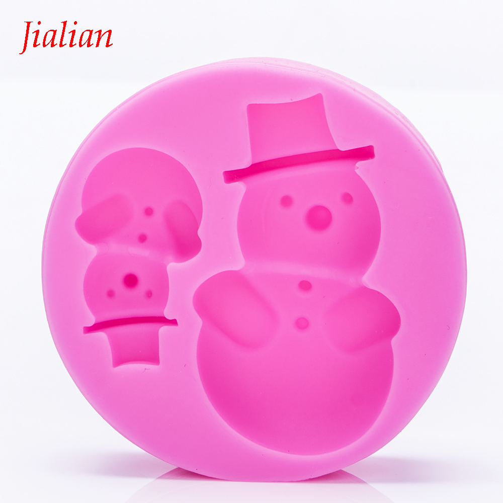 Christmas snowman 3D Reverse sugar molding Food Grade silicone mould for polymer clay molds chocolate cake decoration tools 0958