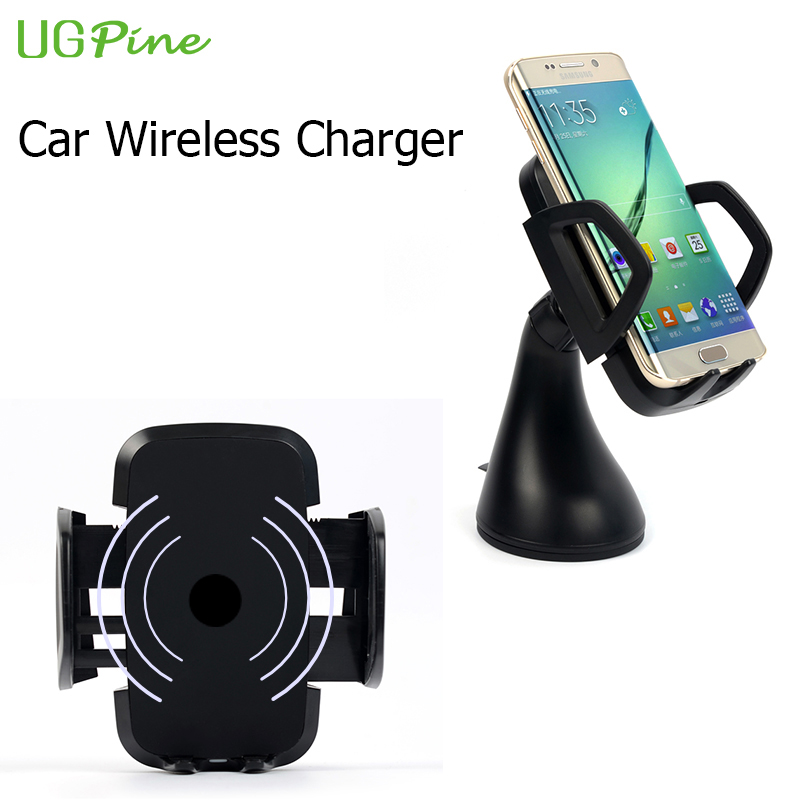 UGPine Wireless Car Charger Qi Wireless Charging Pad with Holder Plate for LG G3 Samsung Galaxy