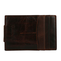 2017 New Business Short Designer Leather Mens Wallet Money Clip Purse ID Credit Card Holder With
