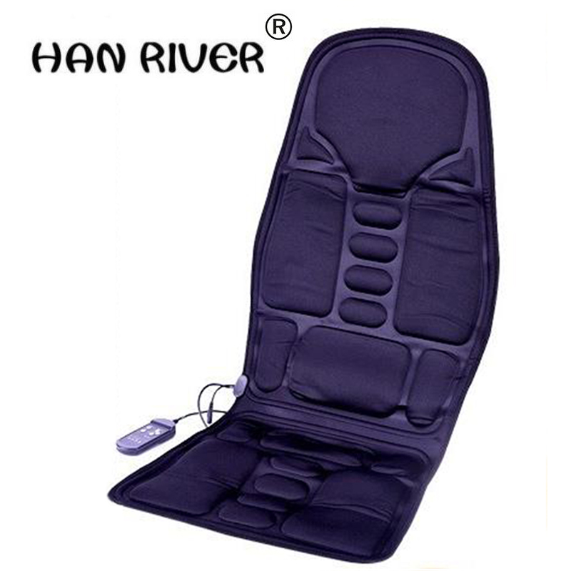 Car Home Office Full-Body Massage Cushion. Back Neck Massage Chair Massage Relaxation Car Seat. Heat Vibrate Mattress 240337 ergonomic chair quality pu wheel household office chair computer chair 3d thick cushion high breathable mesh