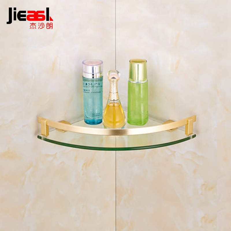 jsl Space Aluminum Single Tier Bathroom Shelves and Towel Rack with ...