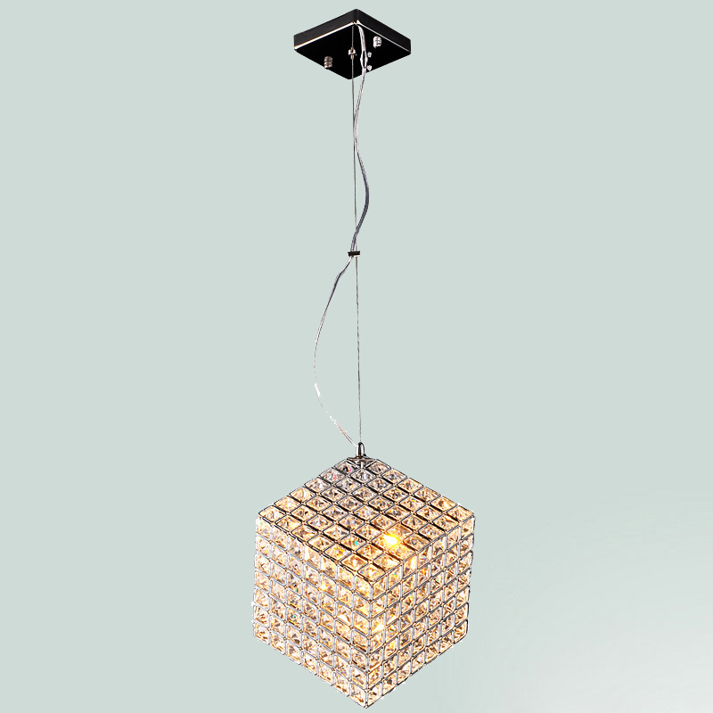 Modern cubic crystal pendant lamp cafe bar pendant lamp resteraunt hotel light with LED bulbs home decoration lighting modern american personality lamp spider extendable light pendant scalable lamp home office bar decoration light lamp