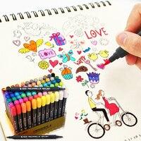 STA 12 Colors Set Artist Brush Set Sketch Marker Pens Water Based Ink Twin Tip Watercolor