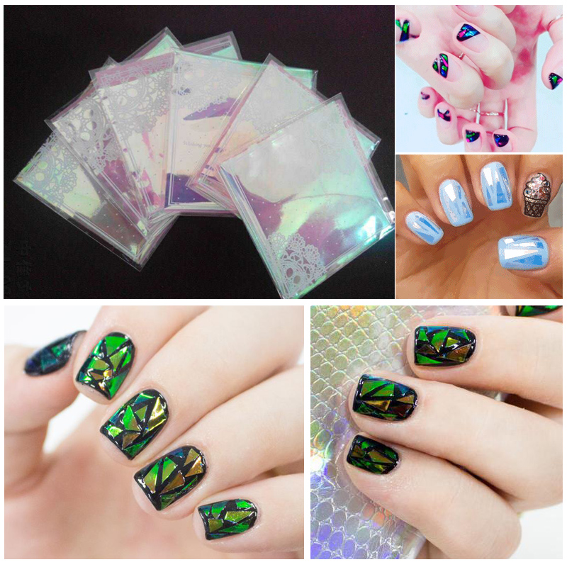 2017 New Por Broken Gl Mirror Foil Nail Sticker Art In Stickers Decals From Beauty Health On Aliexpress Alibaba Group