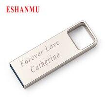 Eshanmu Usb отличного качества 2,0 4 ГБ 8 ГБ 16 ГБ 32 ГБ Usb флеш-накопитель металлический Флешка Customzied с вашим логотипом оптом дешевый лучший подарок
