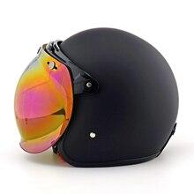 Moto รีไซเคิล VINTAGE sunvisor Bubble SHIELD PILOT Retro หมวกกันน็อก Jet Scooter Moto หมวกกันน็อก + Bubble Visor