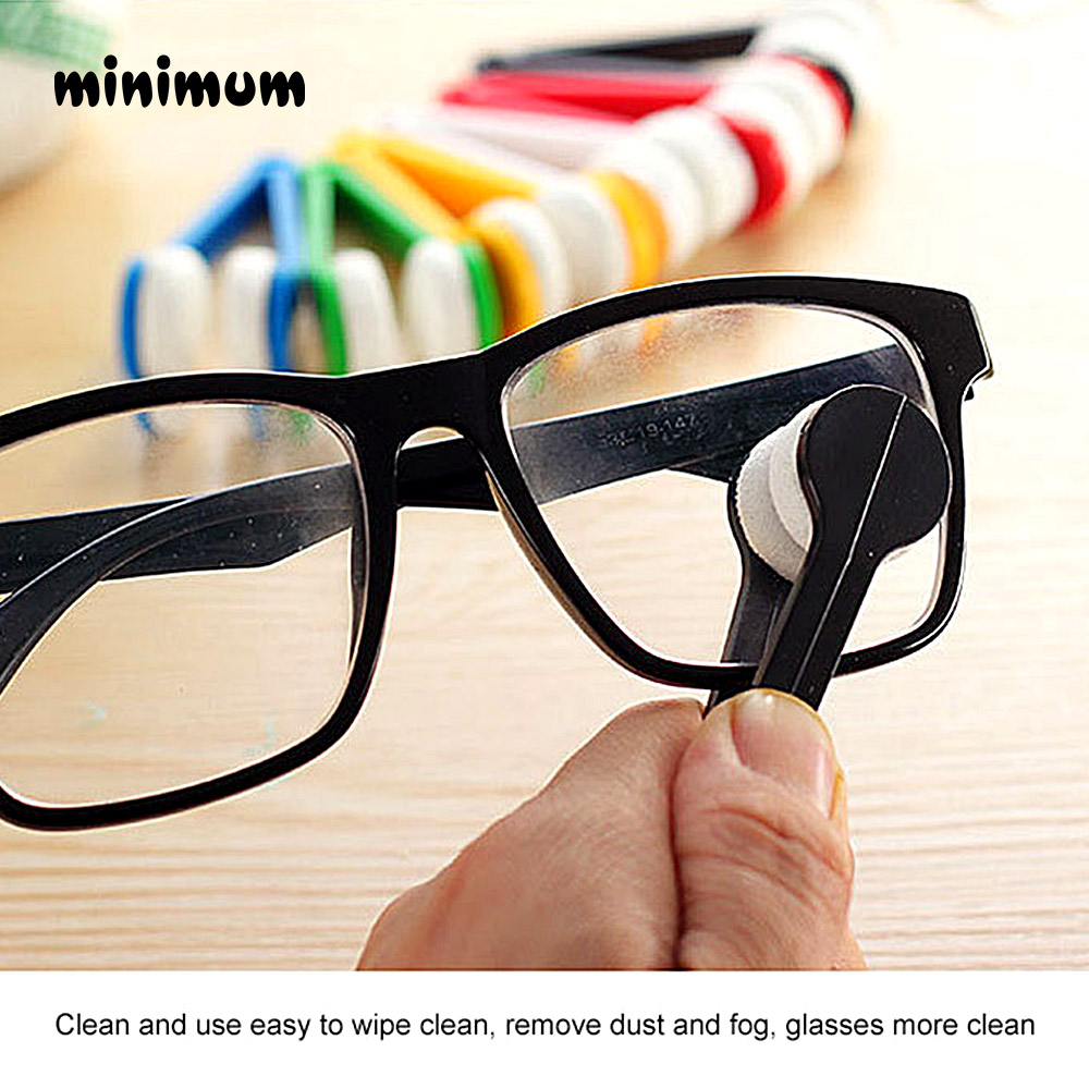5/pc Random Glasses Dedicated Convenience Cleaner Super Fine Fiber Super Clean Power Portable Glasses Rub With Key Ring Cleaner