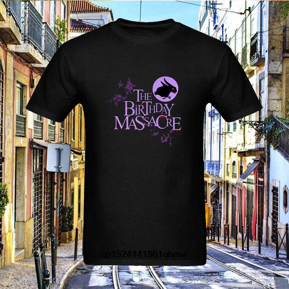 New T Shirt Men Brand Fashion Simple Mens The Birthday Massacre Synth Rock Logo Nature In Shirts From Clothing