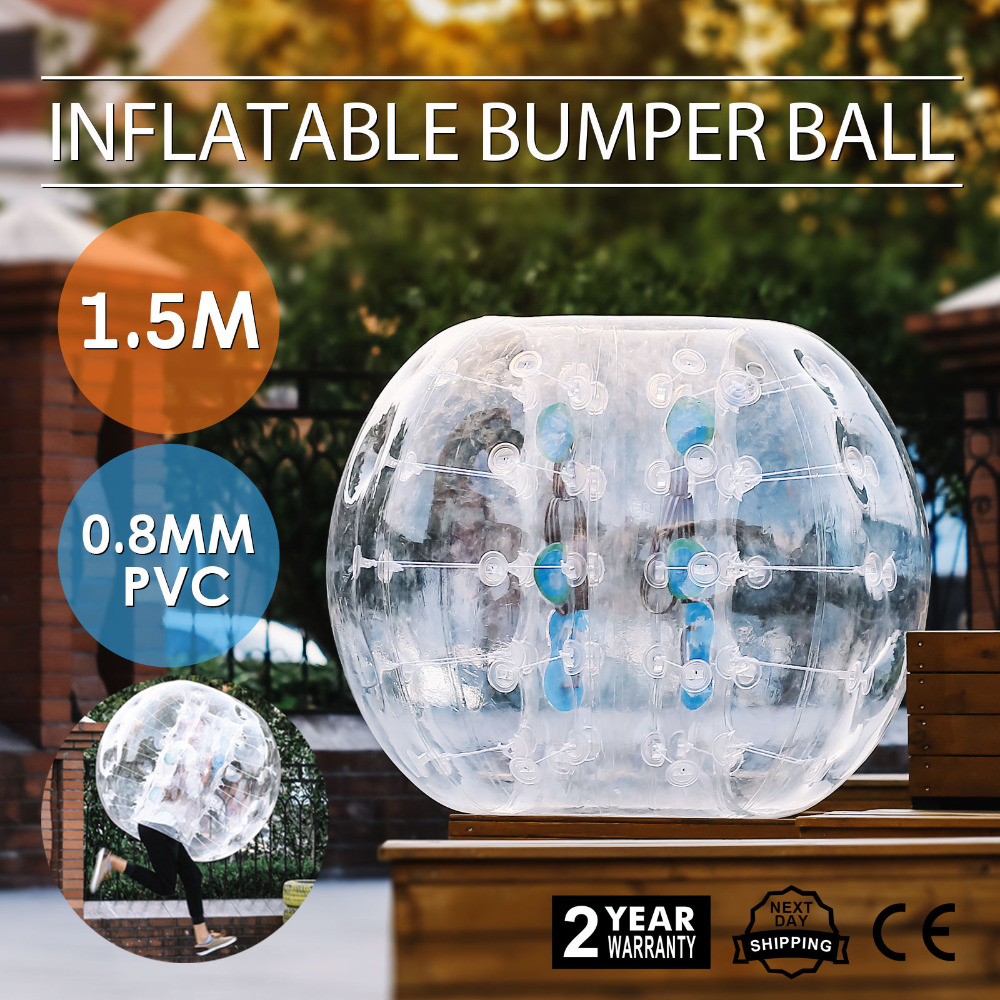 OrangeA Inflatable Bumper Ball Diameter 1.5M Bubble Soccer Ball 0.8mm PVC Transparent Material Zorb Ball for Adults and Kids popsport inflatable bumper ball 4ft bubble soccer ball 0 8mm eco friendly pvc zorb ball human hamster ball for adults and kids