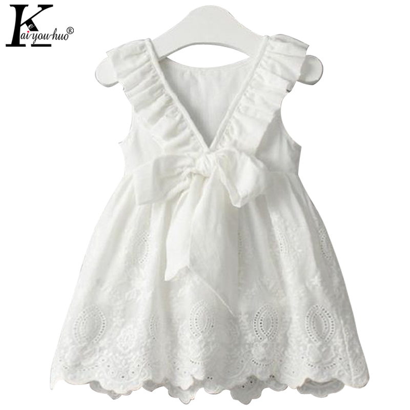 KEAIYOUHUO Summer Dress Girls Clothes Party Dresses For Girls Costume Kids White Toddler Dress Children Clothing 2 3 4 5 6 Years ноутбук asus x751sj ty017t 90nb07s1 m00860
