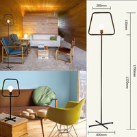 Loft Do Vintage Retro Simples Piso Lâmpada de Mesa Lâmpada Da Arte Luz de Ferro Fundido Artesanato Lampadaire Loft Café Bar Loja Casa Corredor decor New|desk lamp|desk lamp retro|lamp desk -