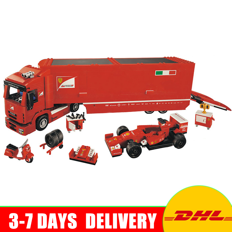 Lepin 21010 Technic Super Racing Car Series The Red Truck Set Children Educational Toys Building Blocks Bricks Compatible 75913 lepin 21010 super race formula f1 racing container truck model building kits block 914pcs bricks toys gift for children 75913