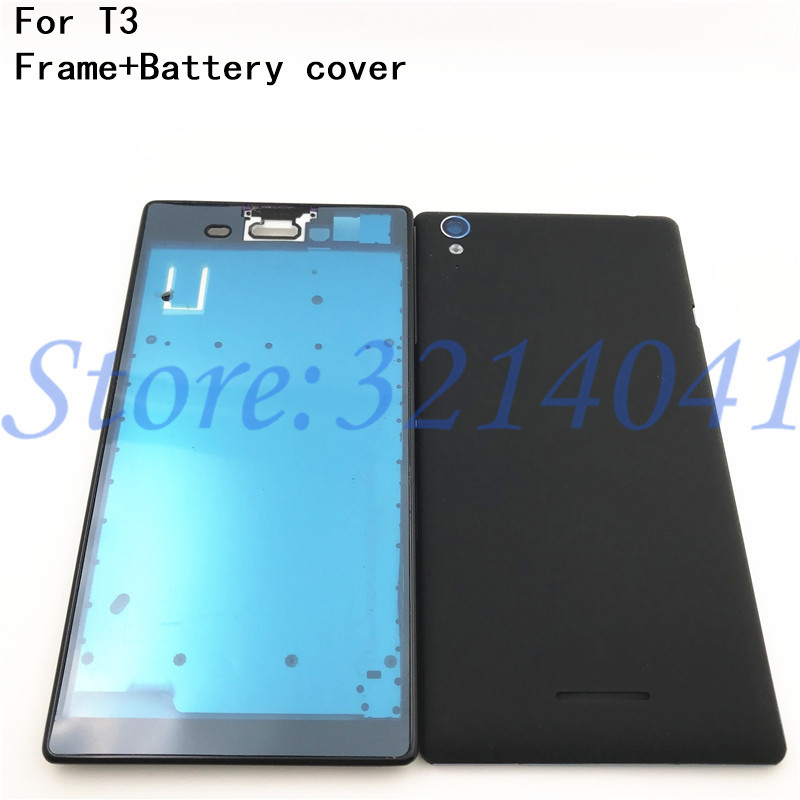 Good quality Full Housing Cover Case Front Frame Battery Back Door Repair Part For Sony Xperia T3 D5102 D5103 D5106 M50W+LogoGood quality Full Housing Cover Case Front Frame Battery Back Door Repair Part For Sony Xperia T3 D5102 D5103 D5106 M50W+Logo
