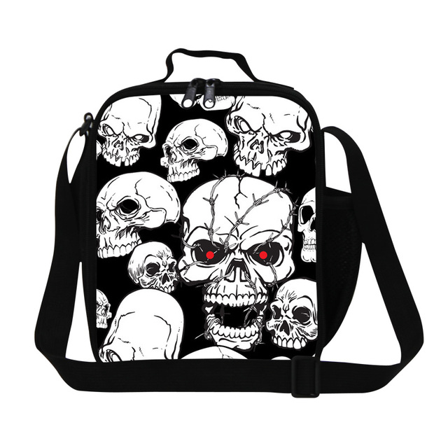 Best Insulated Cooler Bags for Children Skull Soft Sided Cooler bags for Work Cool Lunch Bag with Shoulder Straps Food Bag kids