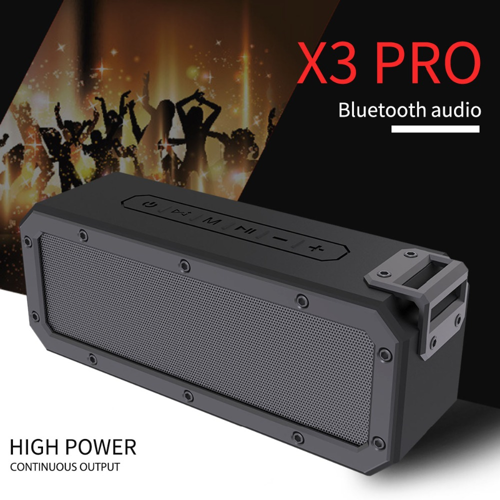 X3 Pro Wireless Bluetooth Speaker Portable TWS hands-free Phone calls Waterproof Audio Super Bass High Definition Sound Speakers i fun8 bluetooth speaker built in mic hands free call portable sound perfect speakers with tws wireless earbuds for smart phone