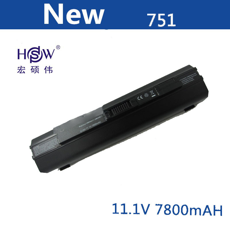 HSW מחשב נייד סוללה עבור Acer Aspire one 531 531 h 751 ZA3 ZA8 ZG8 AO751h  UM09A73
