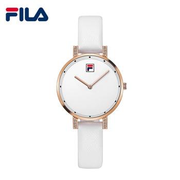 Fila Women Wrist Watch Quartz Watch for Women Lady Simple Leather Strap Water Resistant Top Sale Fashion and Casual 783 Наручные часы