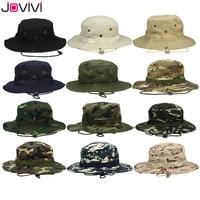 Jovivi Outdoor Boonie Hut Breite Krempe Atmungs Safari Angeln Hüte UV Schutz Faltbare Military Hut Klettern Sommer Hüte Caps