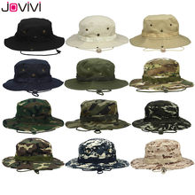 Jovivi Outdoor Boonie Hat Wide Brim Breathable Safari Fishing Hats UV Protection Foldable Military Hat Climbing Summer Hats Caps