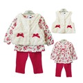 children's clothing baby girls 3 pcs set newborn baby clothing princess set