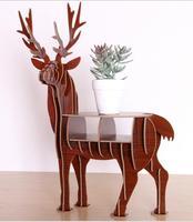 Wood Bucky shape Decorative Plant Stand Display Shelf book shelf