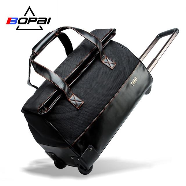 95cf7afdccea BOPAI Travel Bag Large Capacity Trolley Travel Bags Luggage Men Weekend  Duffle Bag Waterproof Oxford Suitcase Wheels Carry On